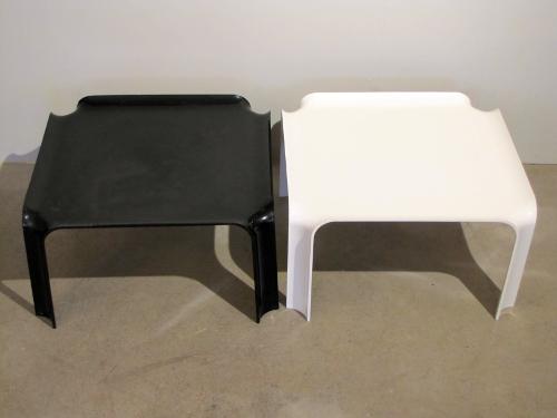 Pierre Paulin, paire de tables basses, modèle 877, ed. Artifort