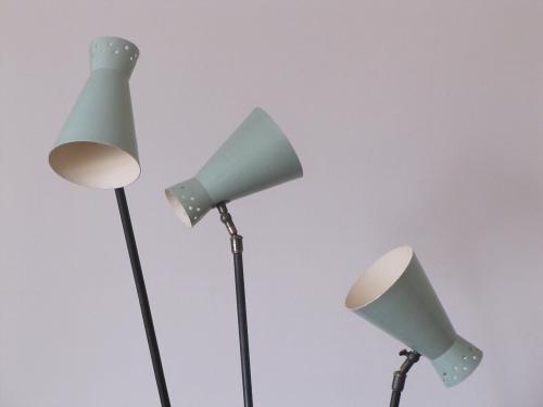 Stilnovo lampadaire vert