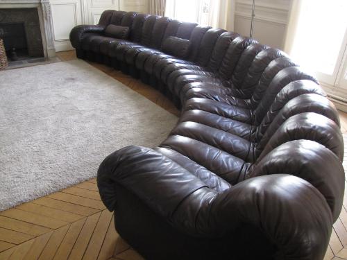 DS600 De Sede cuir brun, 21 éléments