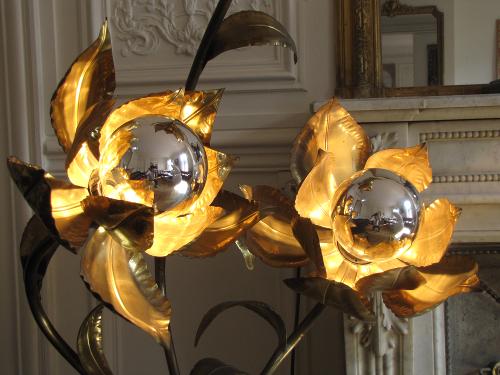 Lampe Fleurs années 70